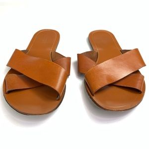 J. Crew Shoes - J.Crew Leather Sandals Brown